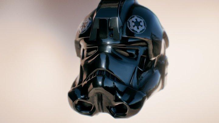 3D TIE PILOT HELMET - Star Wars model 3D Model