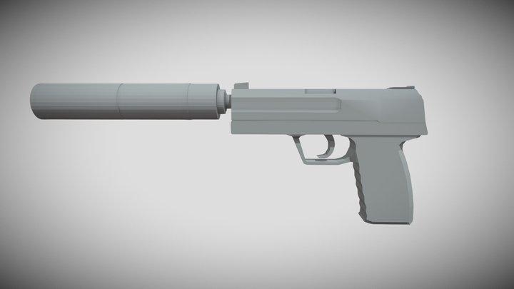 CS:GO USP-S 3D Model