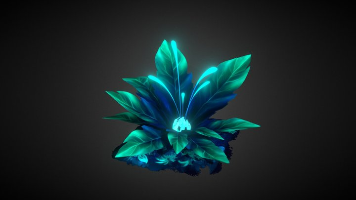 Handpainted Magic Plant 3D Model