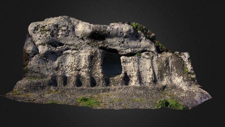 Castelluccio prehistoric monumental tomb 3D Model