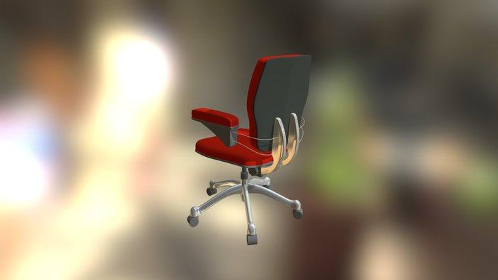 sedia da ufficio 3D Model
