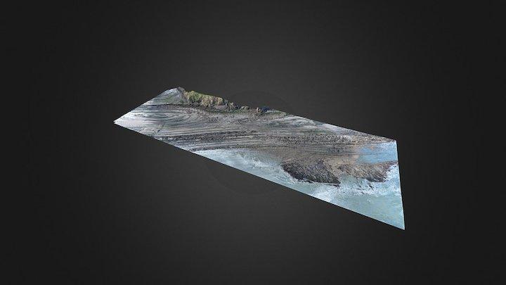 La platier Rocheux de la Sirène, Wissant (62) 3D Model
