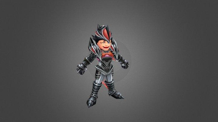Jabberwock Knight Armor 3D Model