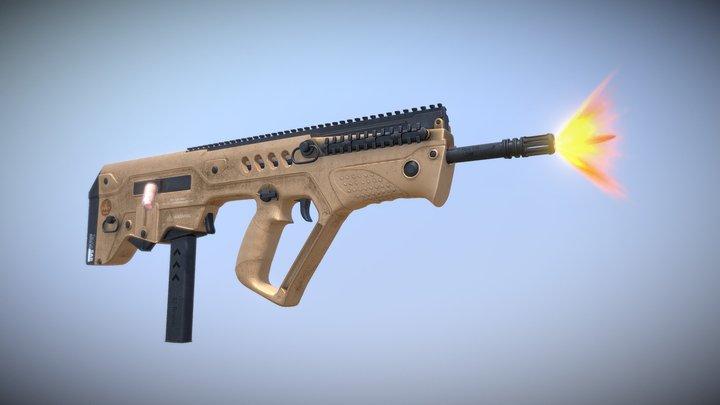 Tavor SAR Flattop B16 3D Model