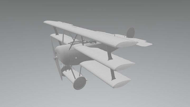 FokkerDR1 3D Model
