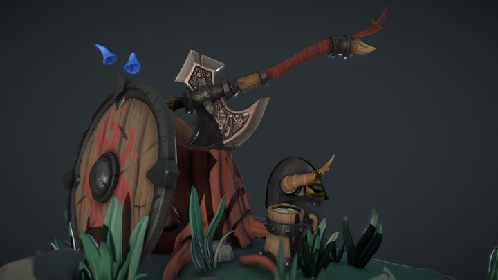 Viking asset -Diorama 3D Model