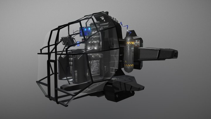 PERSONAL SUBMARINE - Concept (Classic) 3D Model