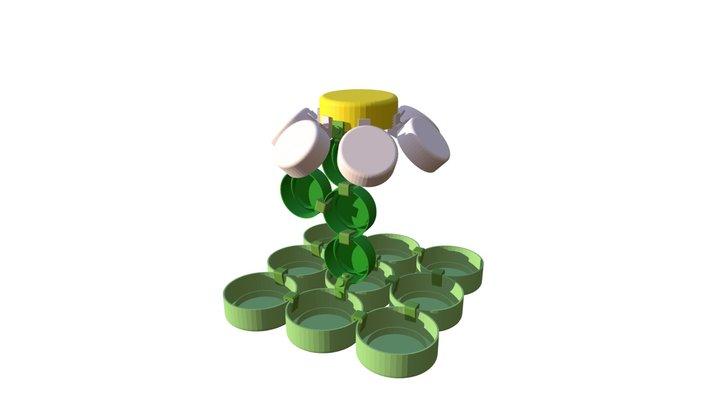 CLIP IT 3D - FLOWER / FLEUR 3D Model