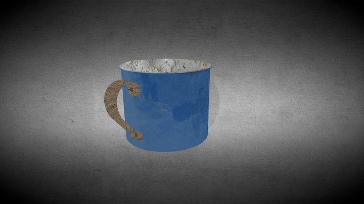 Old metal mug 3D Model