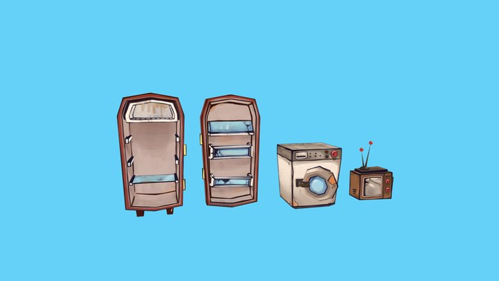 Flotsam props - devices 3D Model