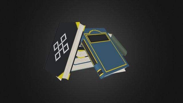 Book Stack 3D Model