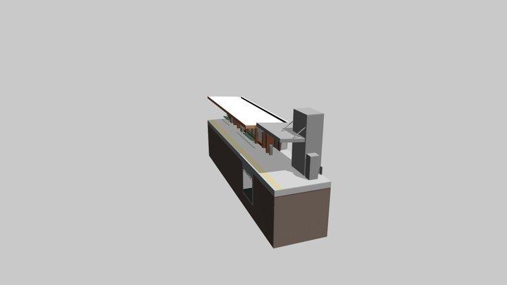 Graceville Station - Stair Section 3D Model