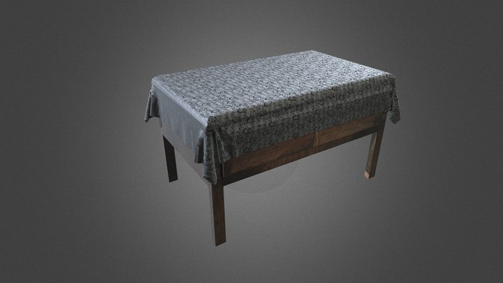 RTB_BedsideTable 3D Model