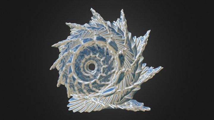 Ice Dragon Shell Craftal 3D Model