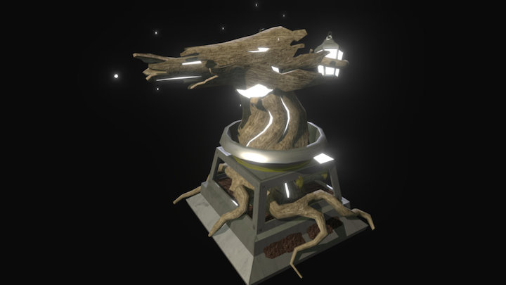 Sentry Gun - Dark Forest 3D Model