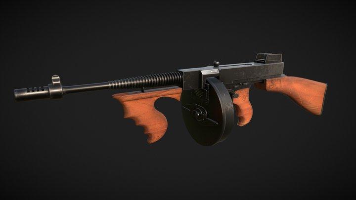 Tommy Gun`gster 3D Model