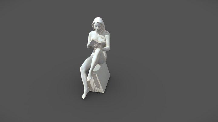 Lindenholz Sitzende Frau - Richard Senoner 2020 3D Model