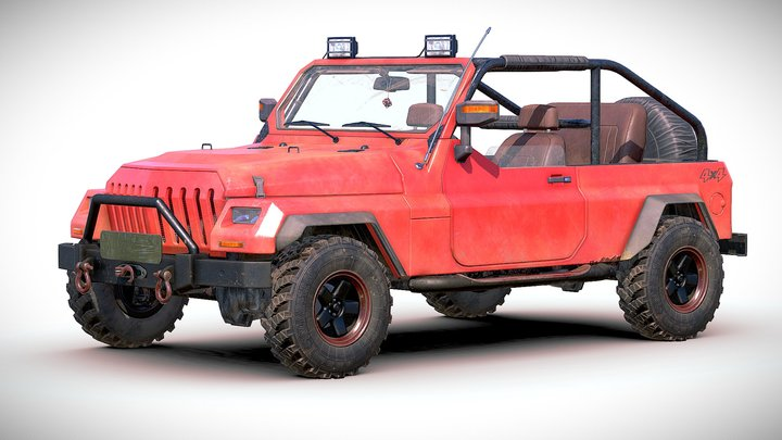 Generic 4x4 SUV 3D Model