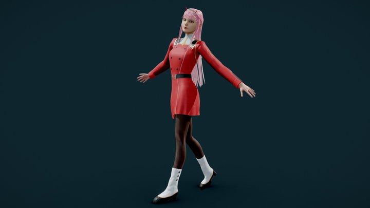 Zero Two Game Ready 3D Model 3D Model