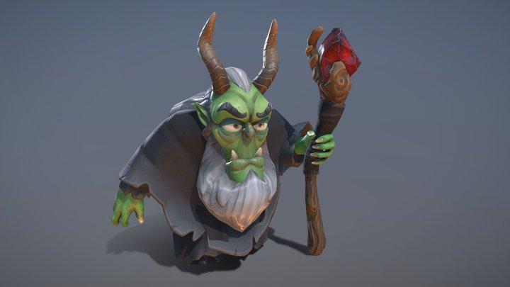Dark Wizard - KnightOut 3D Model
