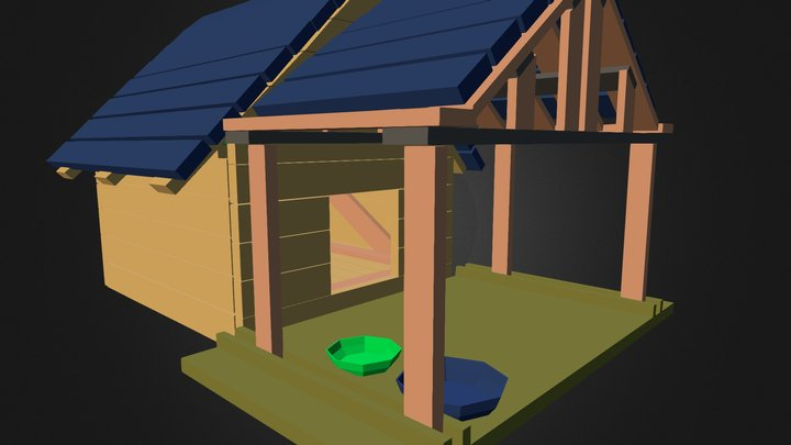 Dog House Beta (Not Approved For Gravity Laws) 3D Model