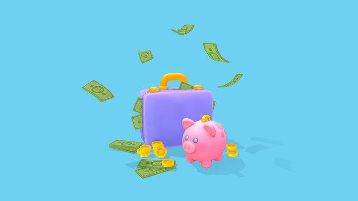 Piggy's Treasure 3D Model