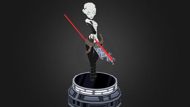 Asajj Ventress 3D Model