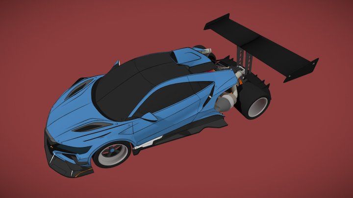 NSX Racecar 3D Model