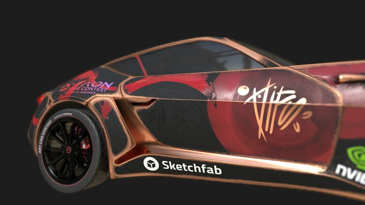 XTAON_Art_Car 3D Model