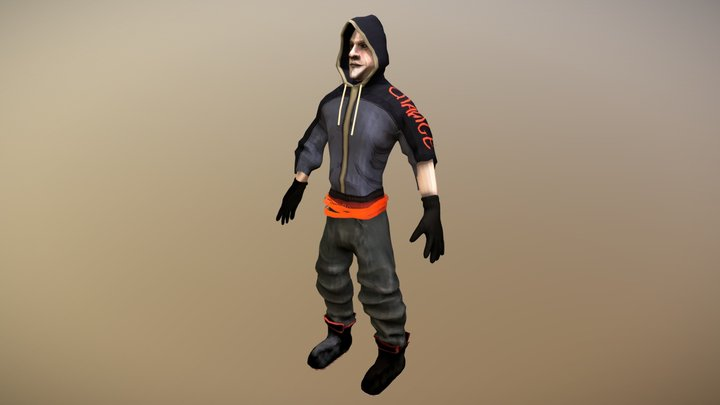 Stylised Brink Character 3D Model