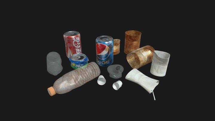 Trash Models 3D Model