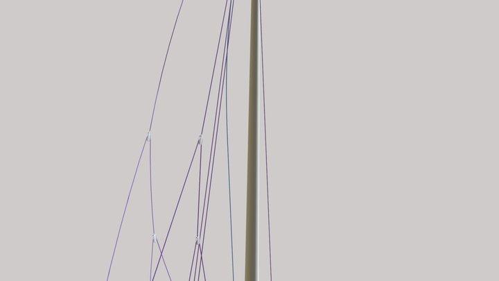 20190405 Junk Rig Stowed 3D Model