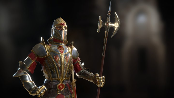 Imperial City Watch Palace Guard for Skyblivion 3D Model