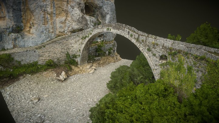Kokkorou Stone Bridge Zagoria Epirus Greece 3D Model