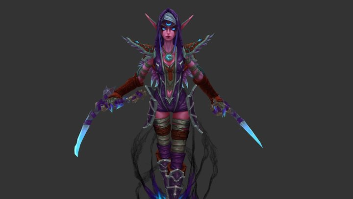 Raven and her claws 3D Model