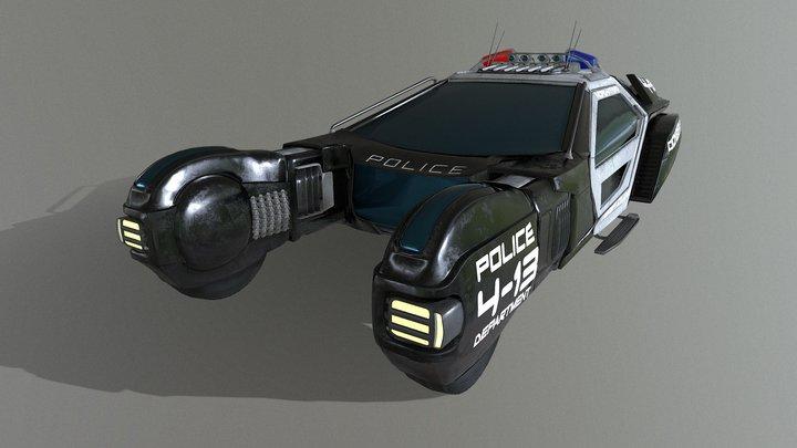 Police hover (spiner) 3D Model