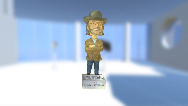 Paul Maxwell Bobble Head 3D Model