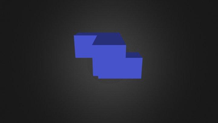Blue Puzzle Cube Part 3D Model