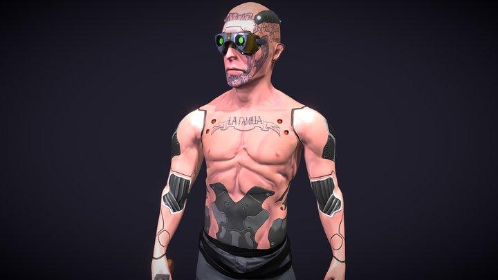 Cyberpunk Latin Gang 3D Model