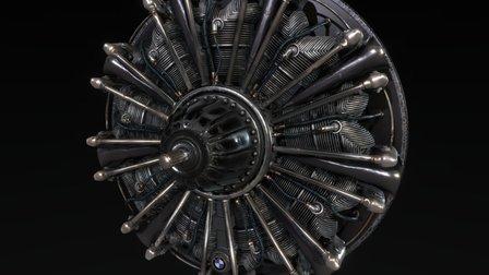BMW 132 [aircraft engine] 3D Model