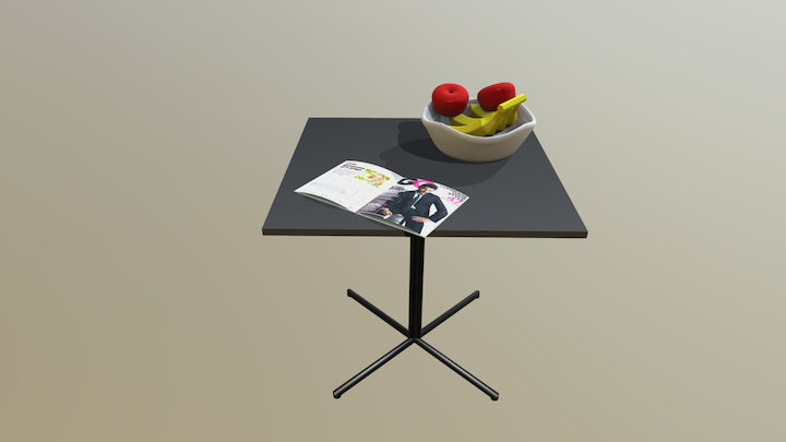 square dining table 3D Model