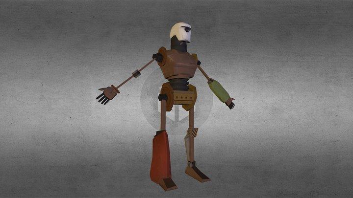 Scrap Robot 3D Model