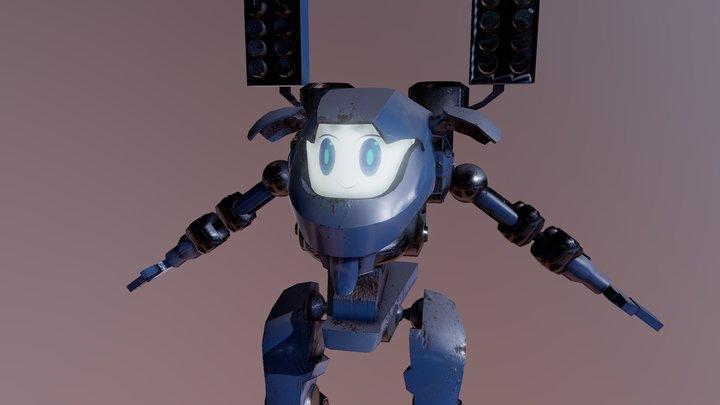 Mech Model with cute face 3D Model