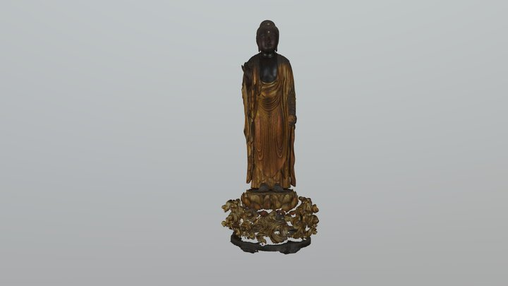 Amitābha (阿弥陀仏 Amida butsu; 阿弥陀如来 Amida nyorai) 3D Model