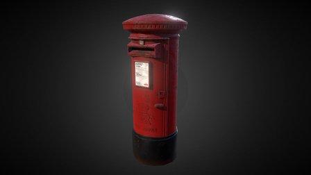 UK Pillar Box 3D Model