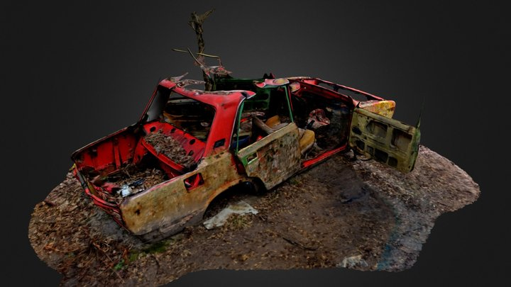 Broken Down Car 30 KM from Chernobyl 3D Model