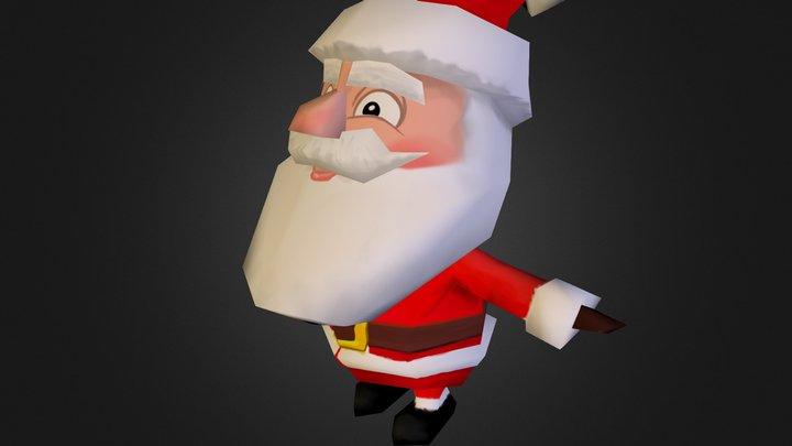 Super low Poly Santa 3D Model