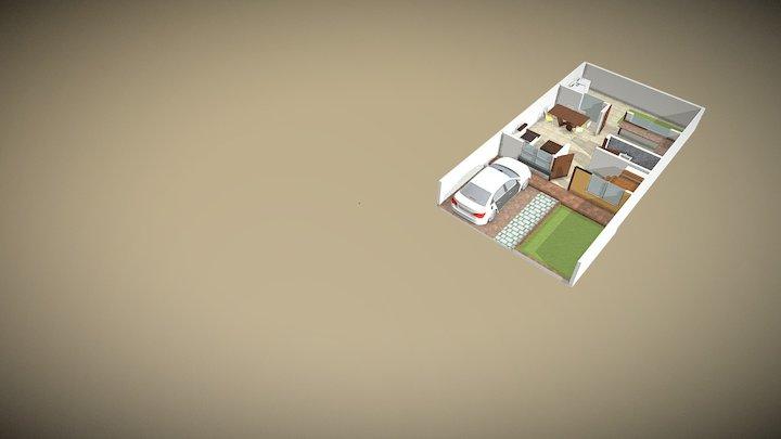 planta baja 7m 3D Model