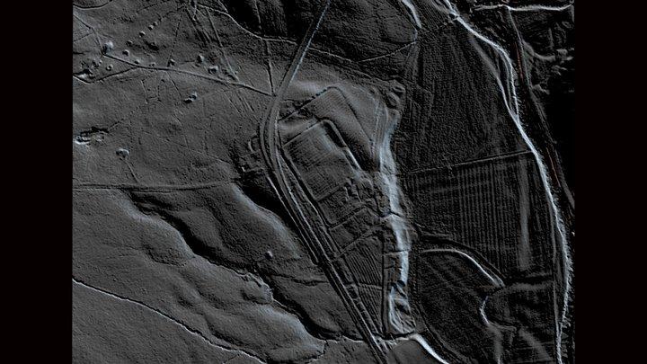 Blakehope Roman Fort and Camp, 3D Lidar 3D Model