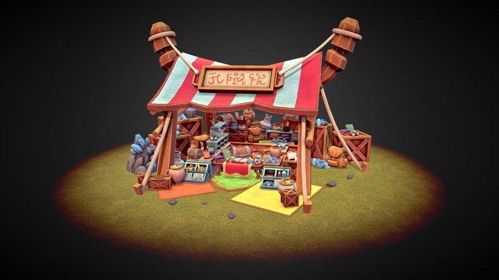 Talizar's Bazaar - Stylized Marketplace 3D Model